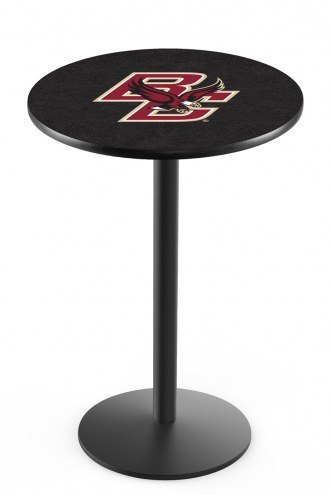 Boston College Eagles Black Wrinkle Bar Table with Round Base