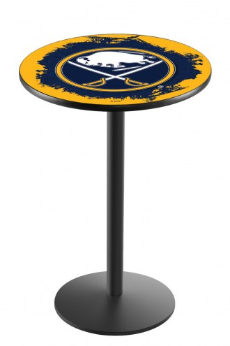 Buffalo Sabres Black Wrinkle Bar Table with Round Base