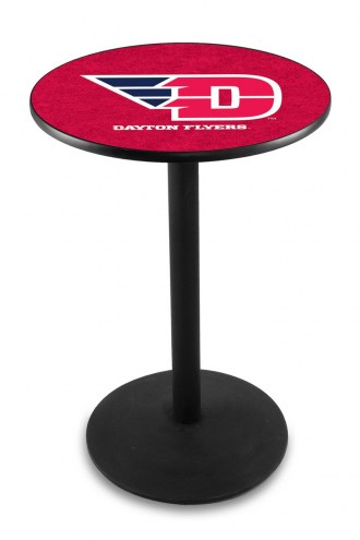 Dayton Flyers Black Wrinkle Bar Table with Round Base
