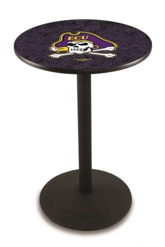 East Carolina Pirates Black Wrinkle Bar Table with Round Base