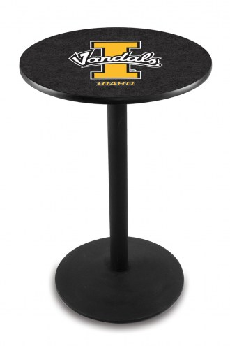 Idaho Vandals Black Wrinkle Bar Table with Round Base