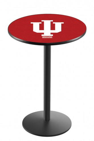 Indiana Hoosiers Black Wrinkle Bar Table with Round Base
