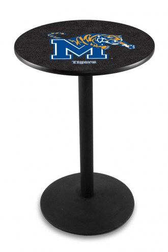 Memphis Tigers Black Wrinkle Bar Table with Round Base