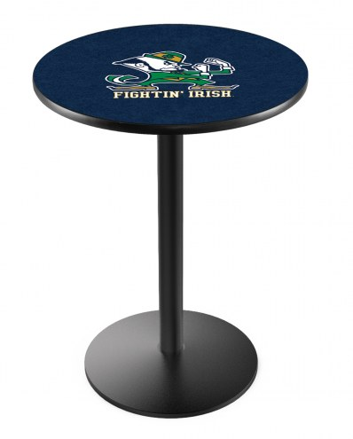 Notre Dame Fighting Irish Black Wrinkle Bar Table with Round Base
