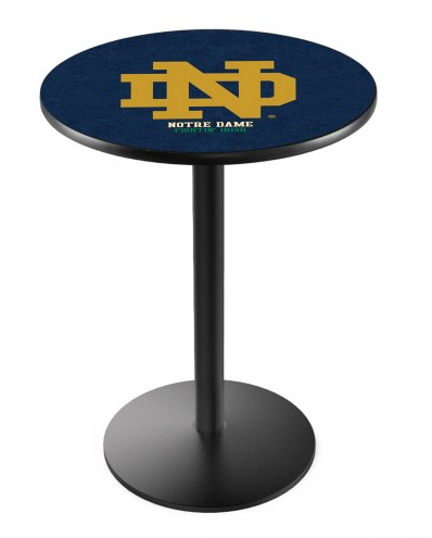 """Notre Dame Fighting Irish """"ND"""" Black Bar Table with Round Base"""