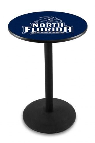 North Florida Ospreys Black Wrinkle Bar Table with Round Base