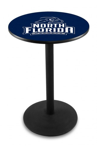North Florida Ospreys Black Wrinkle Bar Table with Round Base