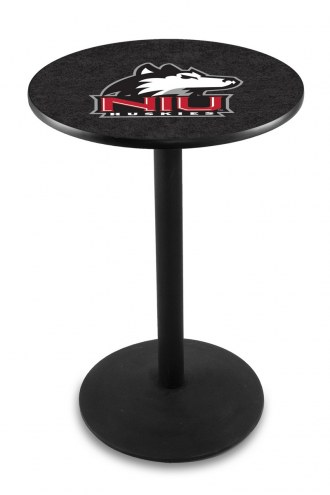 Northern Illinois Huskies Black Wrinkle Bar Table with Round Base
