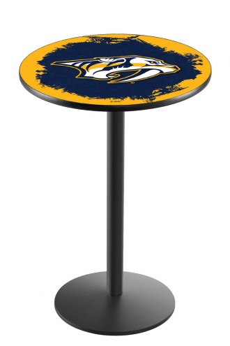 Nashville Predators Black Wrinkle Bar Table with Round Base