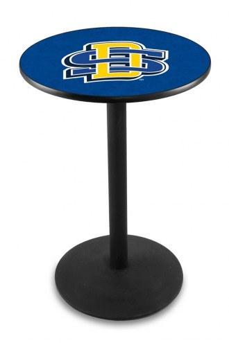 South Dakota State Jackrabbits Black Wrinkle Bar Table with Round Base