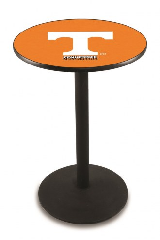 Tennessee Volunteers Black Wrinkle Bar Table with Round Base
