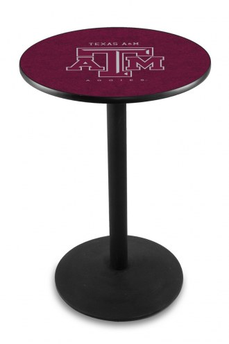 Texas A&M Aggies Black Wrinkle Bar Table with Round Base