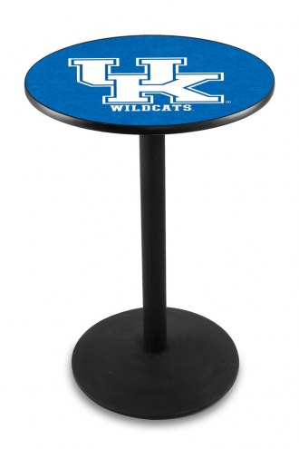 """Kentucky Wildcats """"UK"""" Black Bar Table with Round Base"""