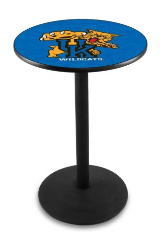 Kentucky Wildcats Black Wrinkle Bar Table with Round Base
