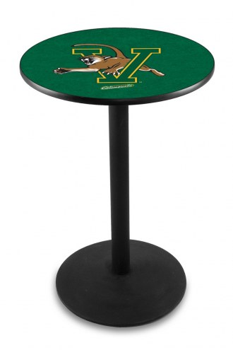 Vermont Catamounts Black Wrinkle Bar Table with Round Base