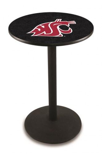Washington State Cougars Black Wrinkle Bar Table with Round Base