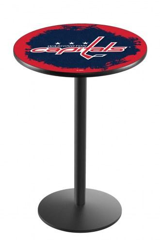 Washington Capitals Black Wrinkle Bar Table with Round Base