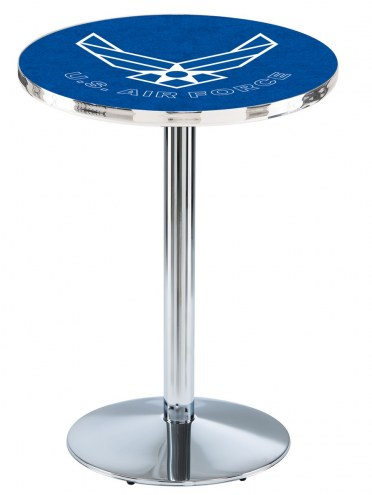 Air Force Falcons Chrome Pub Table with Round Base