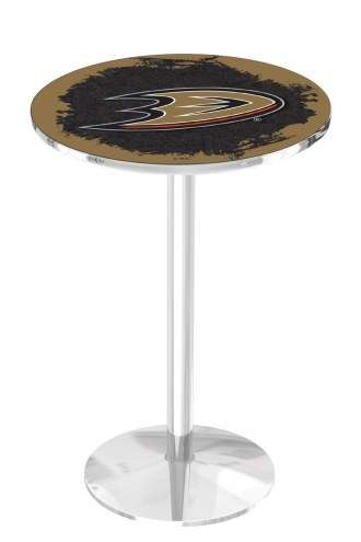 Anaheim Ducks Chrome Pub Table with Round Base