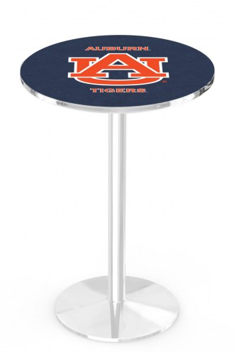 Auburn Tigers Chrome Pub Table with Round Base