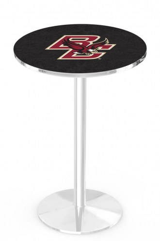 Boston College Eagles Chrome Pub Table with Round Base