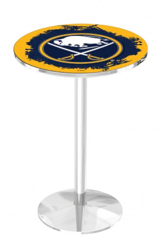 Buffalo Sabres Chrome Pub Table with Round Base