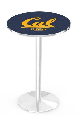 California Golden Bears Chrome Pub Table with Round Base