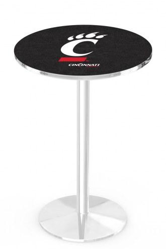 Cincinnati Bearcats Chrome Pub Table with Round Base