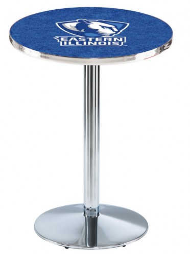 Eastern Illinois Panthers Chrome Pub Table with Round Base