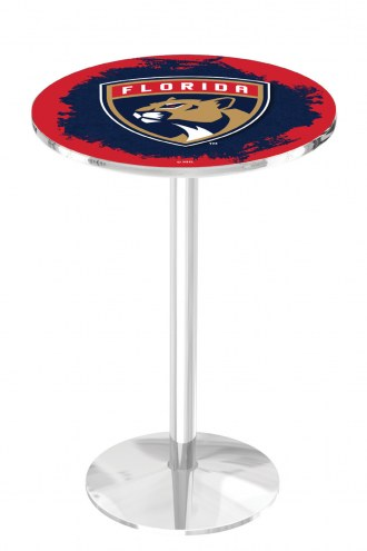 Florida Panthers Chrome Pub Table with Round Base