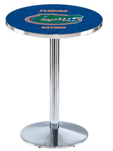 Florida Gators Chrome Pub Table with Round Base