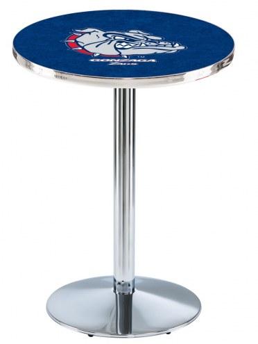 Gonzaga Bulldogs Chrome Pub Table with Round Base