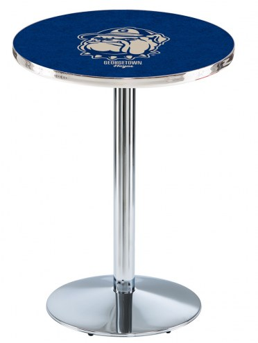 Georgetown Hoyas Chrome Pub Table with Round Base