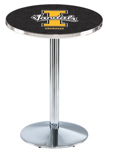 Idaho Vandals Chrome Pub Table with Round Base