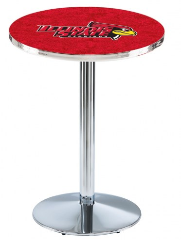 Illinois State Redbirds Chrome Pub Table with Round Base