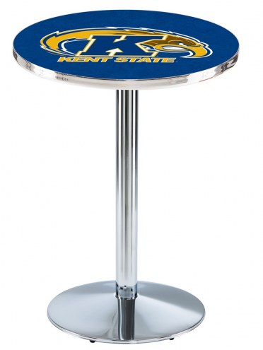 Kent State Golden Flashes Chrome Pub Table with Round Base