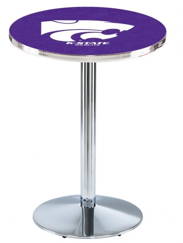 Kansas State Wildcats Chrome Pub Table with Round Base