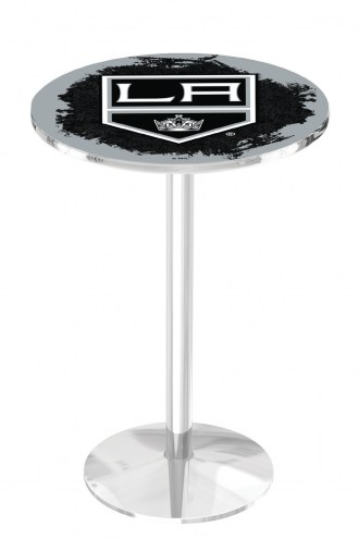 Los Angeles Kings Chrome Pub Table with Round Base