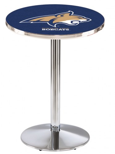 Montana State Bobcats Chrome Pub Table with Round Base