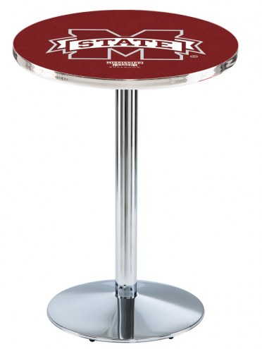 Mississippi State Bulldogs Chrome Pub Table with Round Base