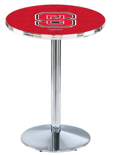 North Carolina State Wolfpack Chrome Pub Table with Round Base