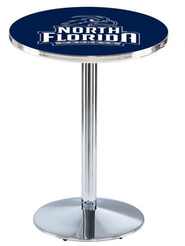 North Florida Ospreys Chrome Pub Table with Round Base