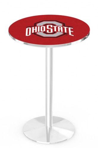 Ohio State Buckeyes Chrome Pub Table with Round Base