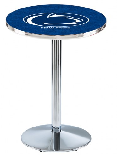 Penn State Nittany Lions Chrome Pub Table with Round Base