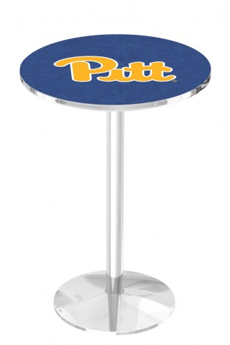 Pittsburgh Panthers Chrome Pub Table with Round Base