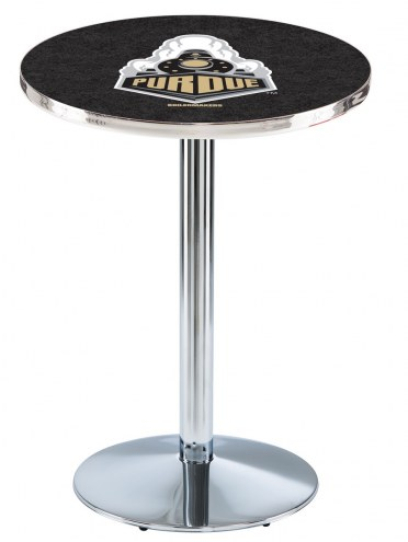 Purdue Boilermakers Chrome Pub Table with Round Base