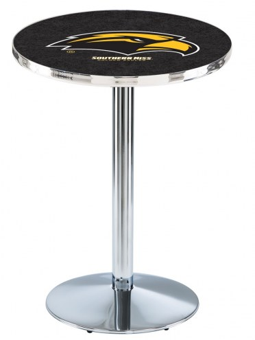 Southern Mississippi Golden Eagles Chrome Pub Table with Round Base