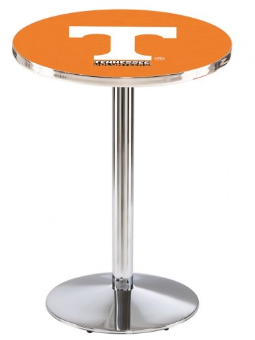 Tennessee Volunteers Chrome Pub Table with Round Base