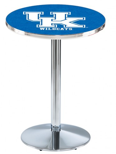 "Kentucky Wildcats ""UK"" Chrome Pub Table with Round Base"