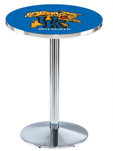 Kentucky Wildcats Chrome Pub Table with Round Base